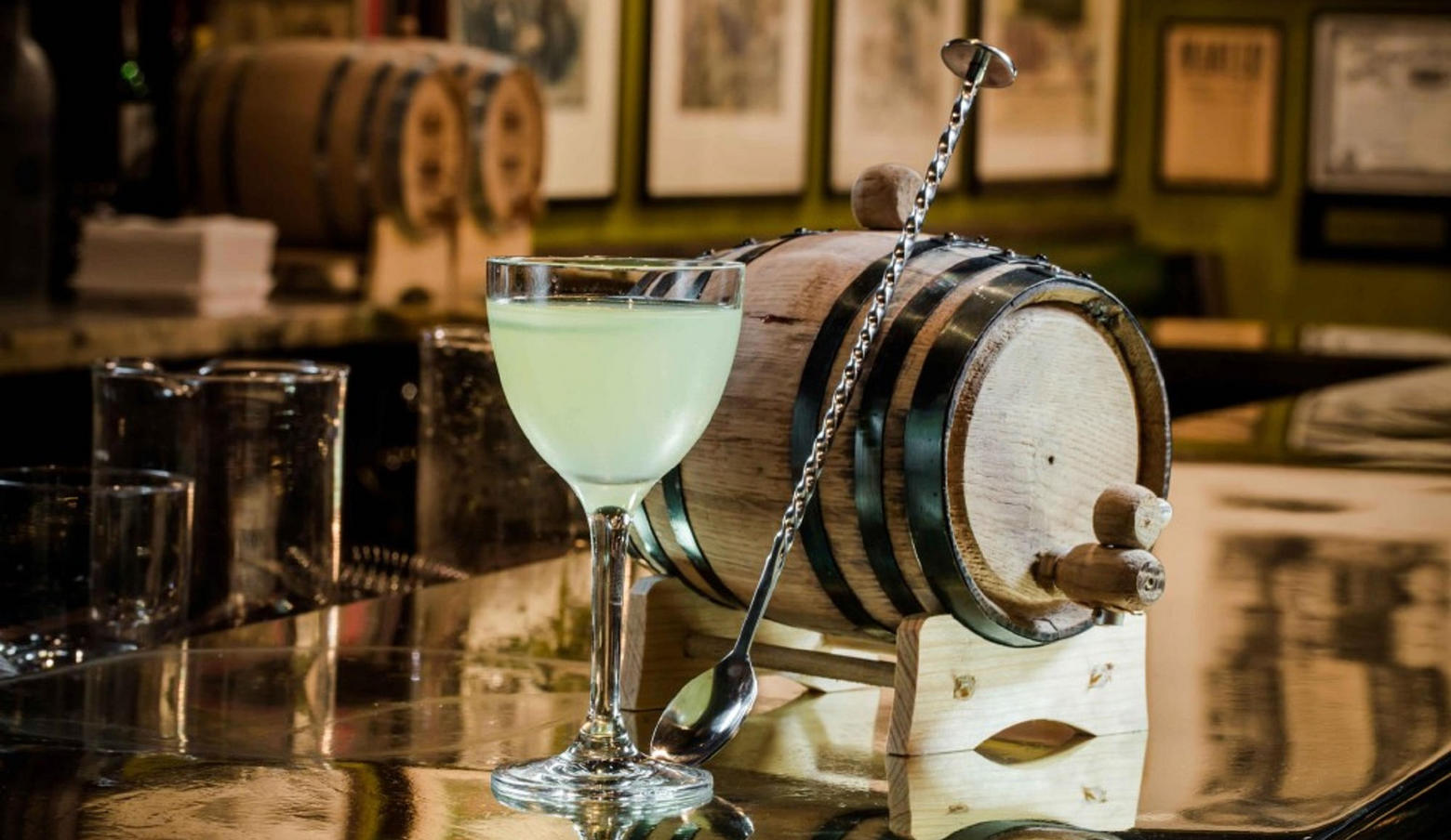 Cocktail and Barrel